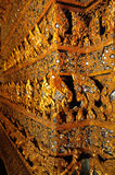 Ταϊλανδική σύσταση σχεδίων υποβάθρου ύφους Στοκ φωτογραφία με δικαίωμα ελεύθερης χρήσης
