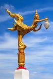 Ταϊλανδική τέχνη και ταϊλανδικός λαμπτήρας οδών ύφους Στοκ εικόνα με δικαίωμα ελεύθερης χρήσης