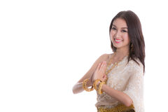 ταϊλανδική υποδοχή ύφου&sigmaf Στοκ Εικόνα