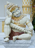 Ταϊλανδική φρουρά ναών Στοκ Φωτογραφίες
