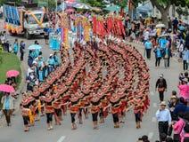 Ταϊλανδική χορεύοντας παρέλαση της πομπής φεστιβάλ κεριών Στοκ φωτογραφία με δικαίωμα ελεύθερης χρήσης