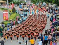 Ταϊλανδική χορεύοντας παρέλαση της πομπής φεστιβάλ κεριών Στοκ Φωτογραφία