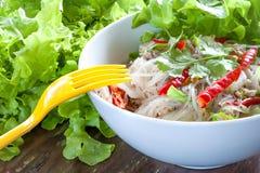 Ταϊλανδική mung σαλάτα νουντλς φασολιών Στοκ Εικόνες