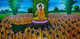 Ταϊλανδική mural ζωγραφική Στοκ φωτογραφίες με δικαίωμα ελεύθερης χρήσης