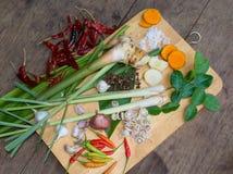Ταϊλανδική tum-ΔΙΟΣΚΟΡΕΑ συστατικών Στοκ Φωτογραφίες