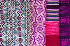 Ταϊλανδική wrap-around φούστα στο σχέδιο Στοκ Εικόνες