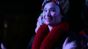 Ταϊλανδικοί χορευτές στο γεύμα Chiang Mai Khantoke φιλμ μικρού μήκους