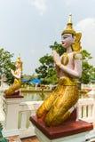 Ταϊλανδικός άγγελος στο μπλε Στοκ εικόνες με δικαίωμα ελεύθερης χρήσης