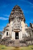 Ταϊλανδικός αρχαίος ναός (κάστρο πετρών Pimai) Στοκ Εικόνες