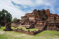 Ταϊλανδικός αρχαίος ναός καταστροφών σε Ayudhya Στοκ φωτογραφία με δικαίωμα ελεύθερης χρήσης