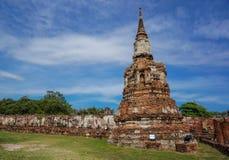 Ταϊλανδικός αρχαίος ναός καταστροφών σε Ayudhya Στοκ Φωτογραφίες