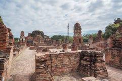 Ταϊλανδικός αρχαίος ναός καταστροφών σε Ayudhya Στοκ εικόνες με δικαίωμα ελεύθερης χρήσης