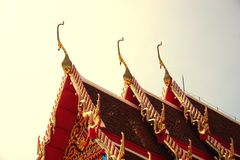 Ταϊλανδικός βουδιστικός ναός 002 κινηματογραφήσεων σε πρώτο πλάνο Στοκ φωτογραφίες με δικαίωμα ελεύθερης χρήσης