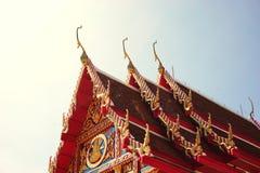 Ταϊλανδικός βουδιστικός ναός 003 κινηματογραφήσεων σε πρώτο πλάνο Στοκ Εικόνες
