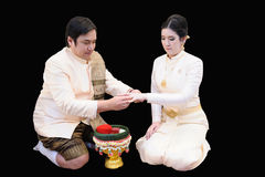 Ταϊλανδικός γάμος παράδοσης Στοκ Εικόνες