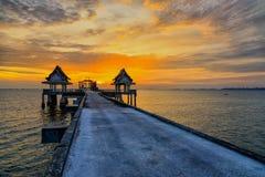 Ταϊλανδικός ναός και λυκόφως Στοκ εικόνα με δικαίωμα ελεύθερης χρήσης