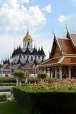 Ταϊλανδικός ναός, Μπανγκόκ Στοκ εικόνες με δικαίωμα ελεύθερης χρήσης