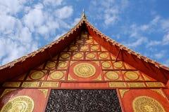 Ταϊλανδικός ναός σε Chiangrai, Ταϊλάνδη Στοκ Εικόνες