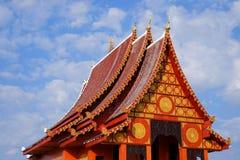 Ταϊλανδικός ναός σε Chiangrai, Ταϊλάνδη Στοκ φωτογραφία με δικαίωμα ελεύθερης χρήσης