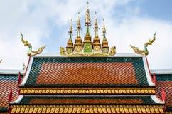 Ταϊλανδικός ναός στεγών Στοκ φωτογραφία με δικαίωμα ελεύθερης χρήσης