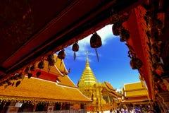 Ταϊλανδικός ναός Wat Phra Buddhis που Doi Suthep σε Chaingmai Στοκ Εικόνες