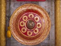 Ταϊλανδικός ντόπιος gong Αρχαίο gong στην Ταϊλάνδη Στοκ Εικόνες