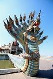 Ταϊλανδικός δράκος ή βασιλιάς Naga Στοκ Φωτογραφία
