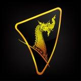 Ταϊλανδικός δράκος Naga Στοκ Εικόνα