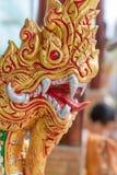 Ταϊλανδικός δράκων ναός θέσης SAN naga lai ταϊλανδικός χρυσός δημόσια kamphaeng στην Ταϊλάνδη Στοκ Φωτογραφίες