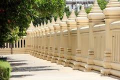 Ταϊλανδικός συγκεκριμένος φράκτης ναών Στοκ Εικόνες