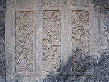 Ταϊλανδικός τοίχος τέχνης γύρω από Wat Arun Rajwararam Μπανγκόκ Στοκ εικόνες με δικαίωμα ελεύθερης χρήσης