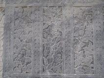 Ταϊλανδικός τοίχος τέχνης γύρω από Wat Arun Rajwararam Μπανγκόκ Στοκ εικόνα με δικαίωμα ελεύθερης χρήσης