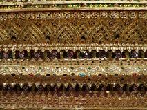 Ταϊλανδικός τοίχος τέχνης γύρω από Wat Arun Rajwararam Στοκ Εικόνα
