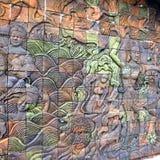 ταϊλανδικός τοίχος τέχνης στοκ φωτογραφία με δικαίωμα ελεύθερης χρήσης