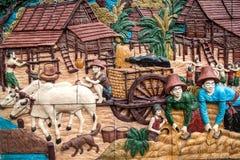ταϊλανδικός τοίχος τέχνης Στοκ Εικόνες
