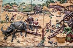 ταϊλανδικός τοίχος τέχνης Στοκ Εικόνα