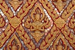 ταϊλανδικός τοίχος τέχνης Στοκ εικόνα με δικαίωμα ελεύθερης χρήσης
