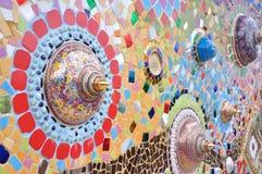 Ταϊλανδικός τοίχος Benjarong Στοκ Εικόνες