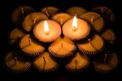 Ταϊλανδικός φωτισμός κεριών αργίλου Στοκ εικόνες με δικαίωμα ελεύθερης χρήσης