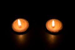 Ταϊλανδικός φωτισμός κεριών αργίλου Στοκ Φωτογραφία