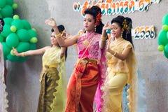 Ταϊλανδικός χορός γυναικείου πολιτισμού Στοκ εικόνες με δικαίωμα ελεύθερης χρήσης