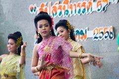 Ταϊλανδικός χορός γυναικείου πολιτισμού Στοκ Εικόνα
