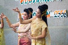 Ταϊλανδικός χορός γυναικείου πολιτισμού Στοκ Φωτογραφίες