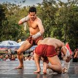 Ταϊλανδικός χορός εγκιβωτισμού Στοκ Φωτογραφία