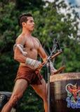 Ταϊλανδικός χορός εγκιβωτισμού Στοκ εικόνα με δικαίωμα ελεύθερης χρήσης