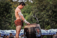 Ταϊλανδικός χορός εγκιβωτισμού Στοκ φωτογραφία με δικαίωμα ελεύθερης χρήσης