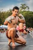 Ταϊλανδικός χορός εγκιβωτισμού Στοκ φωτογραφίες με δικαίωμα ελεύθερης χρήσης