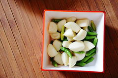 Ταϊλανδικός pepper&garlic Στοκ εικόνες με δικαίωμα ελεύθερης χρήσης
