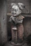 Ταϊλανδικό άγαλμα κοριτσιών φρίκης στο ταϊλανδικό φόρεμα Στοκ φωτογραφία με δικαίωμα ελεύθερης χρήσης