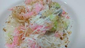 Ταϊλανδικό αλεύρι ρυζιού επιλογών επιδορπίων με την καρύδα και τη ζάχαρη Στοκ εικόνα με δικαίωμα ελεύθερης χρήσης